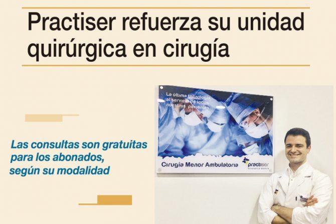 Practiser refuerza su unidad quirúrgica en cirugía