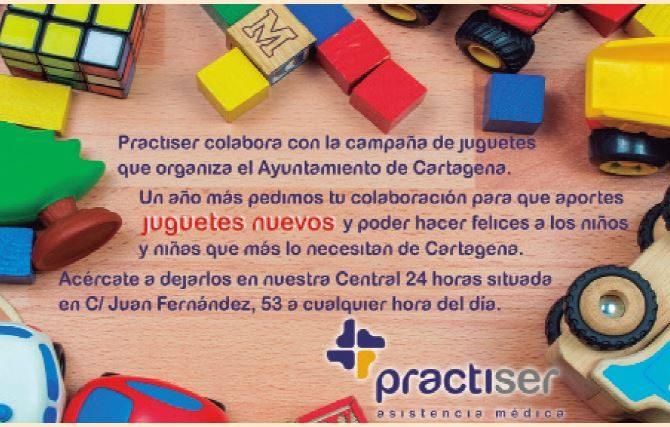 Practiser lanza una nueva campaña de recogida de juguetes en Cartagena