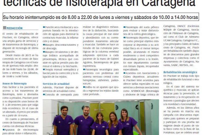 Practiser ofrece un amplio abanico de técnicas de fisioterapia en Cartagena